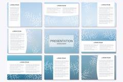 Ensemble de calibres modernes de présentation d'affaires dans la taille A4 Photos libres de droits