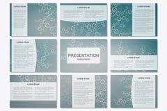 Ensemble de calibres modernes de présentation d'affaires dans la taille A4 Structure de connexion Images stock