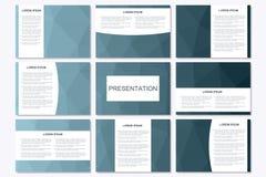 Ensemble de calibres modernes de présentation d'affaires dans la taille A4 Triangle géométrique abstraite Images stock