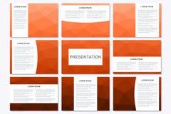 Ensemble de calibres modernes de présentation d'affaires dans la taille A4 Triangle géométrique abstraite Images libres de droits