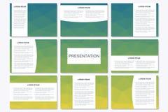 Ensemble de calibres modernes de présentation d'affaires dans la taille A4 Triangle géométrique abstraite Photographie stock libre de droits