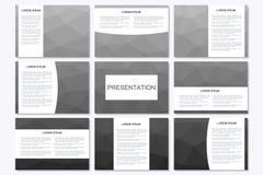 Ensemble de calibres modernes de présentation d'affaires dans la taille A4 Triangle géométrique abstraite illustration de concept Photographie stock