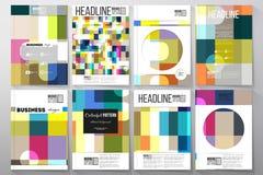 Ensemble de calibres pour la brochure, l'insecte ou le livret Fond coloré abstrait d'affaires, texture élégante moderne de vecteu illustration de vecteur