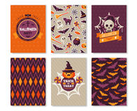 Ensemble de calibres typographiques verticaux de Halloween illustration stock