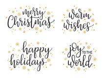 Ensemble de calligraphie de Noël Photo libre de droits