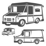 Ensemble de camion de livraison pour des emblèmes et le logo Photo stock