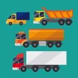 Ensemble de camions Images stock
