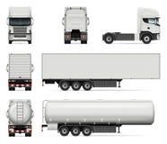 Ensemble de camions de vecteur illustration stock