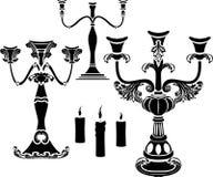 Ensemble de candélabre illustration stock