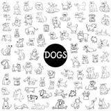 Ensemble de caractères de chien grand illustration libre de droits