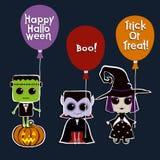 Ensemble de caractères de Halloween Image libre de droits