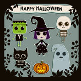 Ensemble de caractères de Halloween illustration stock