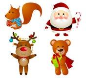 Ensemble de caractères de Noël Image libre de droits