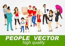 Ensemble de caractères divers de personnes illustration de vecteur