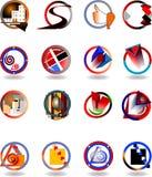 Ensemble de caractères initiaux illustration de vecteur