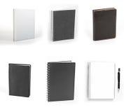 Ensemble de carnets d'isolement sur le fond blanc Image libre de droits