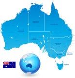 Ensemble de carte administrative d'Australie illustration stock