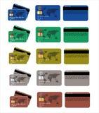 Ensemble de carte de crédit illustration libre de droits