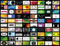 Ensemble de carte de visite professionnelle de visite Images libres de droits
