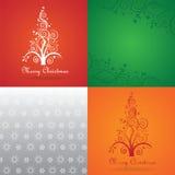 Ensemble de carte de voeux de Joyeux Noël Images libres de droits