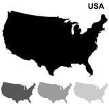 Ensemble de carte des Etats-Unis Photos stock