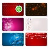 Ensemble de cartes avec des BOULES de Noël, étoiles et Photo stock