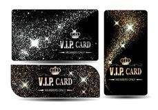Ensemble de cartes brillantes de VIP Image libre de droits