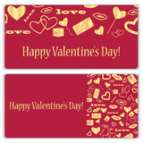 Ensemble de cartes cadeaux pour la Saint-Valentin Image libre de droits