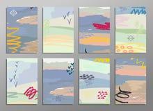 Ensemble de cartes créatives d'aspiration abstraite de main Concevez pour l'affiche, fond de carte de mariage, invitation, insect illustration libre de droits