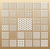 Ensemble de cartes découpées avec des matrices illustration libre de droits