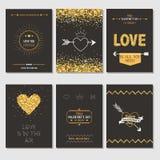 Ensemble de cartes d'amour Image libre de droits