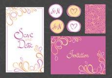 Ensemble de cartes d'invitation Photo stock