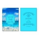 Ensemble de cartes d'invitation de mariage illustration stock