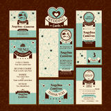 Ensemble de cartes de mariage Images stock