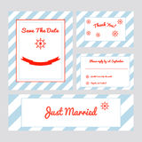 Ensemble de cartes de mariage Photos stock