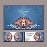 Ensemble de cartes de mariage d'invitation avec l'endroit pour le texte Photo libre de droits