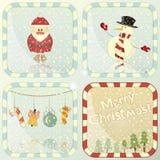 Ensemble de cartes de Noël Image libre de droits