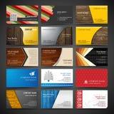 Ensemble de cartes de visite professionnelle de visite Photographie stock