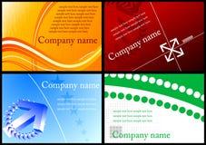 Ensemble de cartes de visite professionnelle de visite colorées Image libre de droits