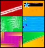 Ensemble de cartes de visite professionnelle de visite colorées Image stock
