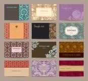 Ensemble de cartes de visite professionnelle de visite de vintage. Image stock
