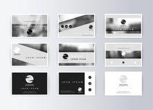 Ensemble de cartes de visite professionnelle de visite, fond gris Carte de l'information de calibre illustration de vecteur