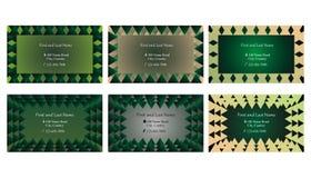 Ensemble de cartes de visite professionnelle de visite ou de cadres décoratifs des textes illustration stock