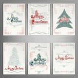 Ensemble de cartes de voeux de Noël Photo stock