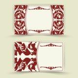 Ensemble de cartes florales d'invitation Photographie stock
