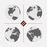 Ensemble de cartes pointillées du monde dans la résolution différente Photographie stock libre de droits