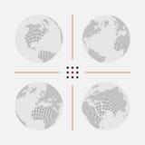 Ensemble de cartes pointillées du monde dans la résolution différente Photo libre de droits