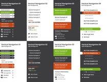 Ensemble de cartes verticales modernes de navigation de page d'accueil Image stock