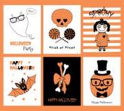 Ensemble de cartes de voeux de Halloween illustration de vecteur