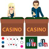 Ensemble de casino de personnes Photo libre de droits